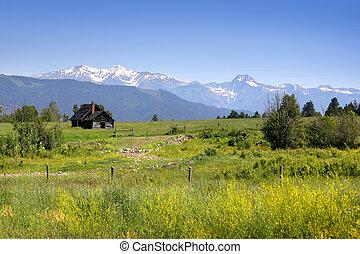 Scenic landscape in montana