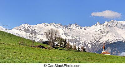 scenic landscape in mountain