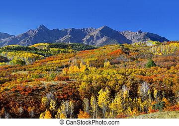 Scenic landscape of Dallas divide in Colorado