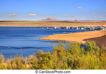 Scenic landscape of Lake Powell near Page Arizona