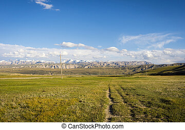 Scenic landscape of Tian Shan mountains, Kyrgyzstan