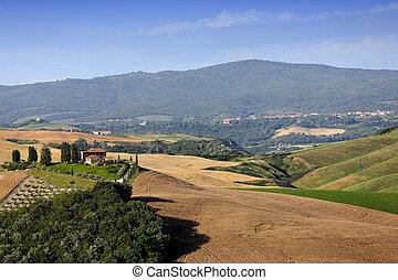 Crete Senesi, siena, tuscany, italy - scenic landscapes of...