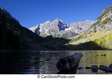 Scenic Maroon Bells - a scenic of maroon bells in fall