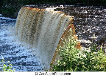 Scenic Michigan waterfall