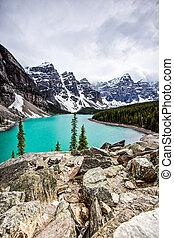 Scenic Moraine Lake, Banff