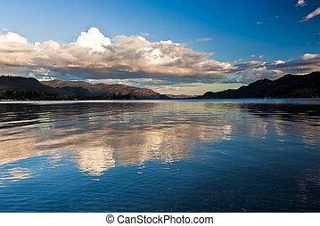 Scenic Mountain lake in Southern Okanagan Valley, British...