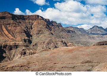 Scenic mountain landscape of Gran Canaria island