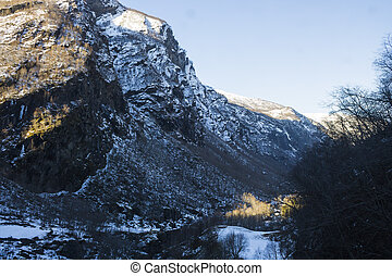 Scenic Mountain views in Winter