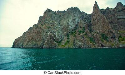 Scenic Mountains Near the Ocean