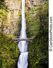 Scenic Multnomah Falls in Oregon