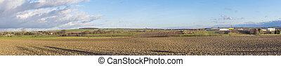 scenic panorama landscape in thuringia