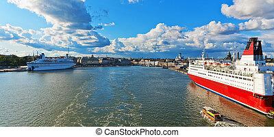 Scenic panorama of Helsinki, Finland
