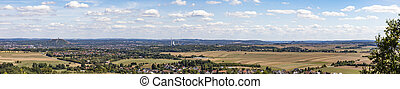 panoramic view to the valley of Saarlouis in the Saarland