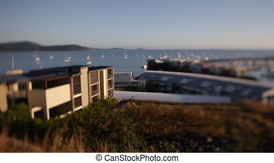 Scenic pier at sight - A pan to right shot of a pier from a...