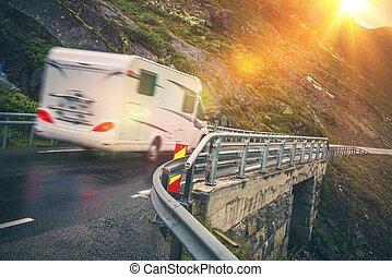 Scenic Road Motorhome Trip