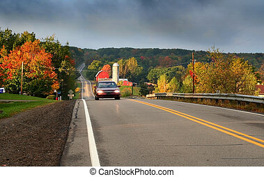 Scenic Route 6 - Scenic route on a cloudy day in Allegheny...