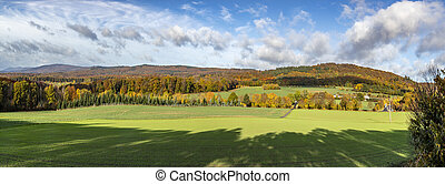 scenic rural landscape in the Taunus region near Wiesbaden, Germany