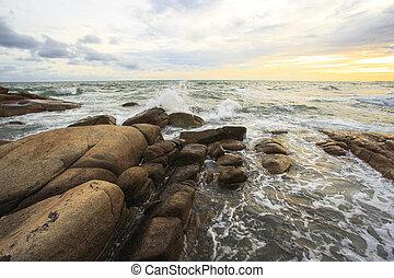Scenic Sea Landscape at sunset