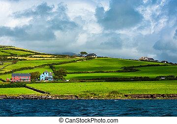 Scenic Settlement at Atlantic Coast of Ireland