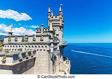 Swallow's Nest Castle in Yalta, Crimea, Ukraine - Scenic...