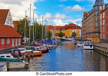 Old Town in Copenhagen, Denmark - Scenic summer view of the ...