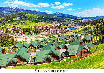 Bukovel, Carpathian Mountains, Ukraine - Scenic summer view ...