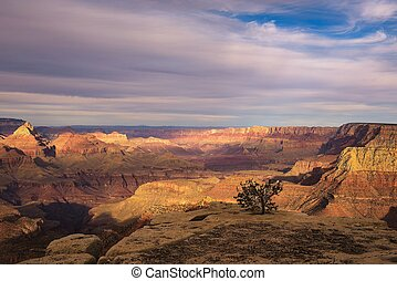 Scenic sunset at the Grand Canyon