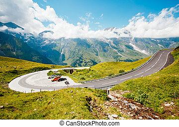 Scenic surroundings near the Grossglockner High Alpine Road.