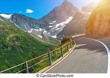 Scenic Swiss Mountain Road