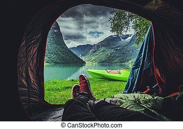 Scenic Tent Spot in Norway