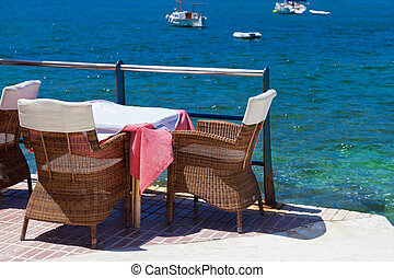 Scenic Terrace in Andratx Harbor