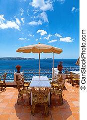 Scenic Terrace in the Mediterranean Sea
