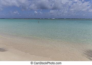 scenic tropical beach at Sainte Anne in Guadeloupe