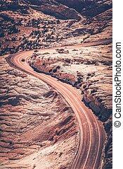 Utah Curved Road