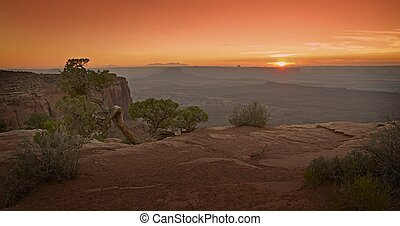 Scenic Utah Sunset - Utah Canyonlands Panorama. Raw and ...