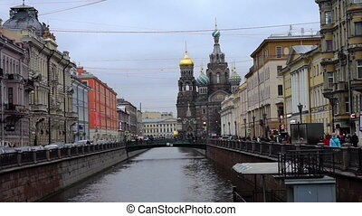 Scenic view at Church of Savior on Spilled Blood in Saint Petersburg