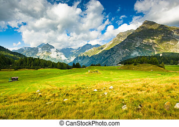 Scenic view at Maloja