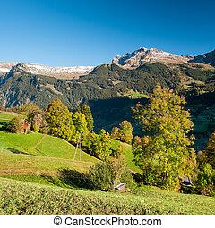 Scenic view from Maenlichen in autumn
