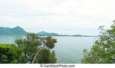 Scenic view, Maggiore lake. - Scenic view Maggiore lake....