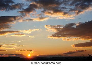 Scenic view of beautiful sunset