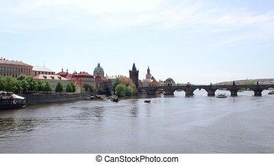 Scenic View Of Bridges On The Vltava River