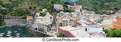Scenic view of colorful village Vernazza, Italy