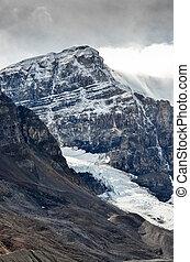 Scenic view of Columbia glacier and mountain peak, Jasper NP...