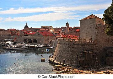 Scenic view of Dubrovnik old town