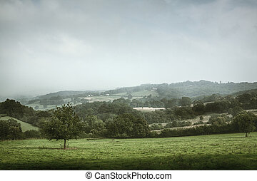 Scenic view of English countryside