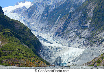Scenic view of Franz Josef Glacier in New Zealand