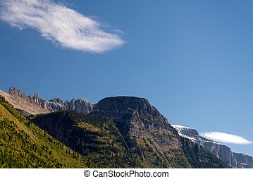 Scenic view of Glacier National Park