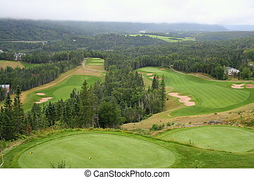 Scenic view of Golf Corse - View of golf course in Humber ...