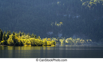 Scenic View of Hallstatt Lake