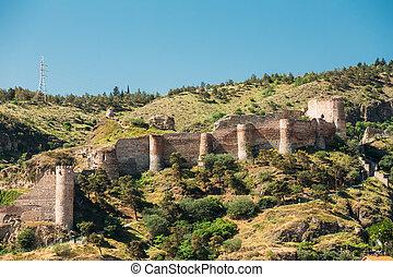 Narikala Fortress In Tbilisi, Georgia. - Scenic View Of...
